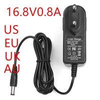 500PCS 16 8 V 0.8A Power adapter 16.8V1000mA 100 240VAC adapter DC kopf ist 5 5*2 1 mmm EU UNS UK AU stecker|adapter dc|power adapterdc adapter -