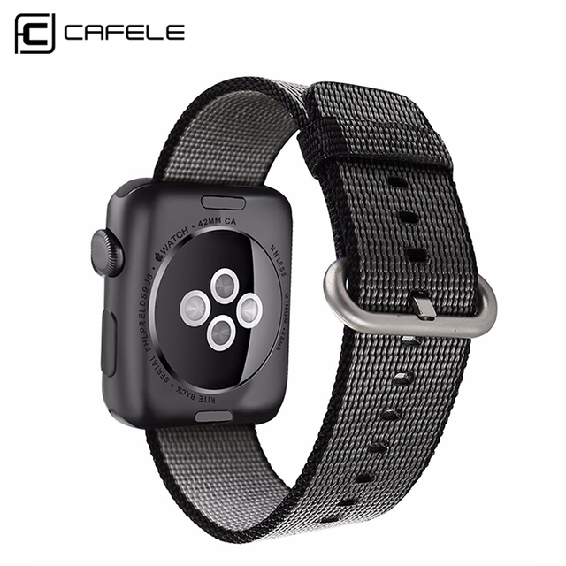 CAFELE 2016 Nylon Watchbands Women Men Sport Watches Bands Accessories 38mm 42mm Canvas watch Strap