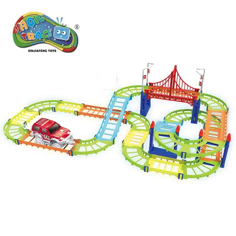 78 stks / set Magic Track Plastic Educatief Milieu Montage DIY - Auto's en voertuigen