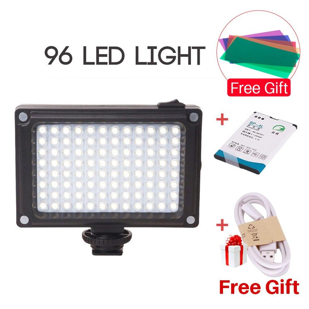 Ulanzi NEUE 96 LED Panel Video Licht Foto Füllen Licht auf Kamera Video Blitzschuh LED Lampe Beleuchtung für Kamera Camcorder DSLR