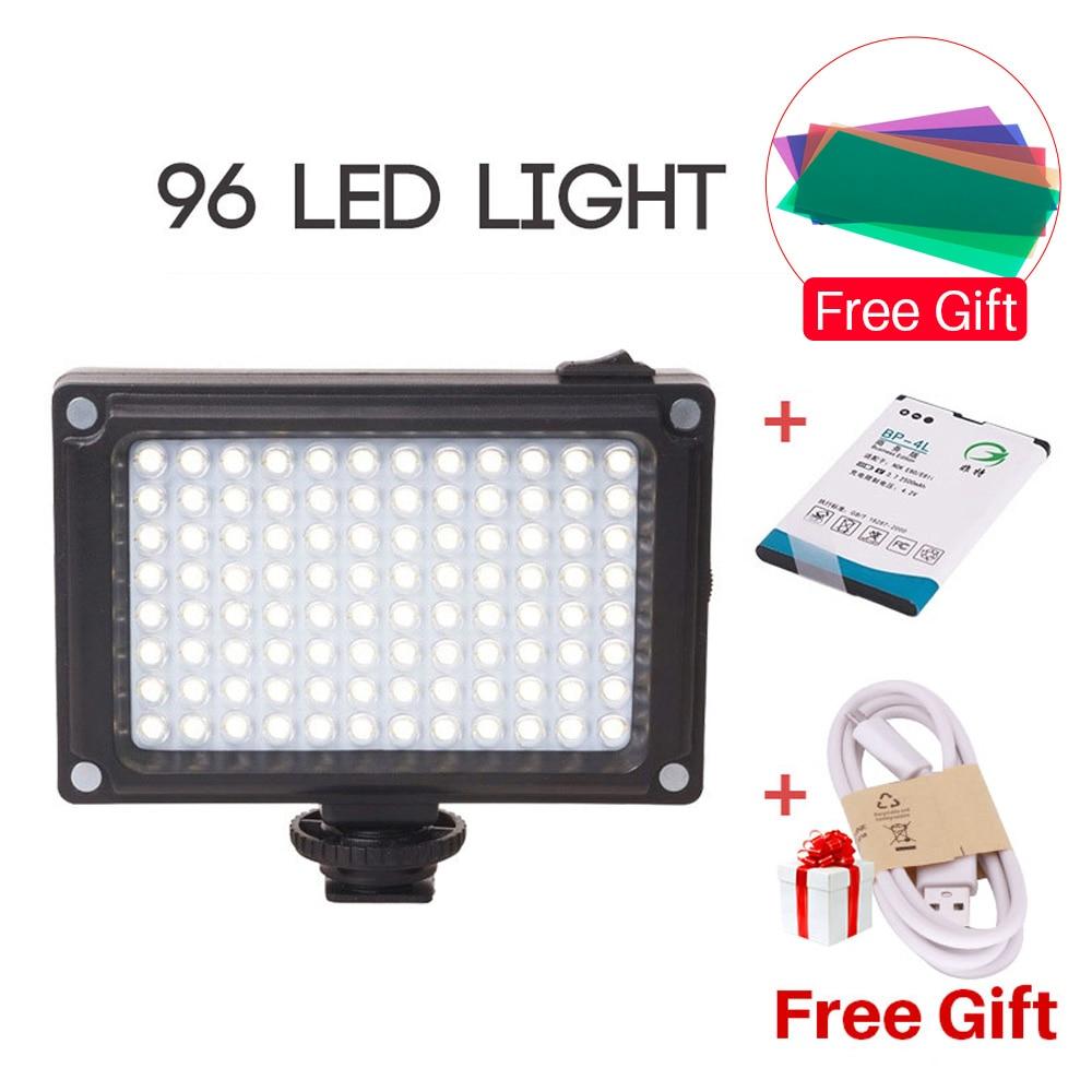 лучшая цена Ulanzi NEW 96 LED Panel Video Light Photo Fill Light on Camera Video Hotshoe LED Lamp Lighting for Camera Camcorder DSLR