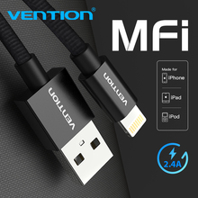 Vention MFI Lightning for iPhone Cable 2.4A Nylon For iPhone xs max 8 Plus 7Plus Fast Charging cable Lightning to USB Data Cord