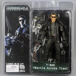 """Image 2 - NECA figura de acción de Terminator 2, caja nueva, envío gratis, T800, Cyberdyne, Showdown, juguete de figura de PVC, 7 """", 18cm"""