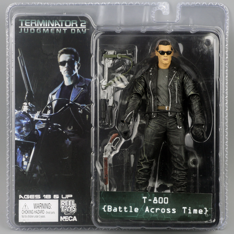 "Image 2 - New Box Free Shipping NECA The Terminator 2 Action Figure T800 Cyberdyne Showdown PVC Figure Toy 7""18cmfigure toytoys free shippingterminator 2 -"
