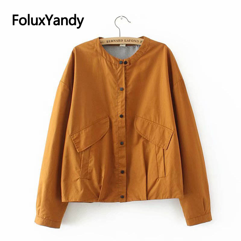 Casual   Basic     Jacket   Cotton Coat Women Plus Size XXXL Spring Autumn   Jackets   Outerwear SWM1206