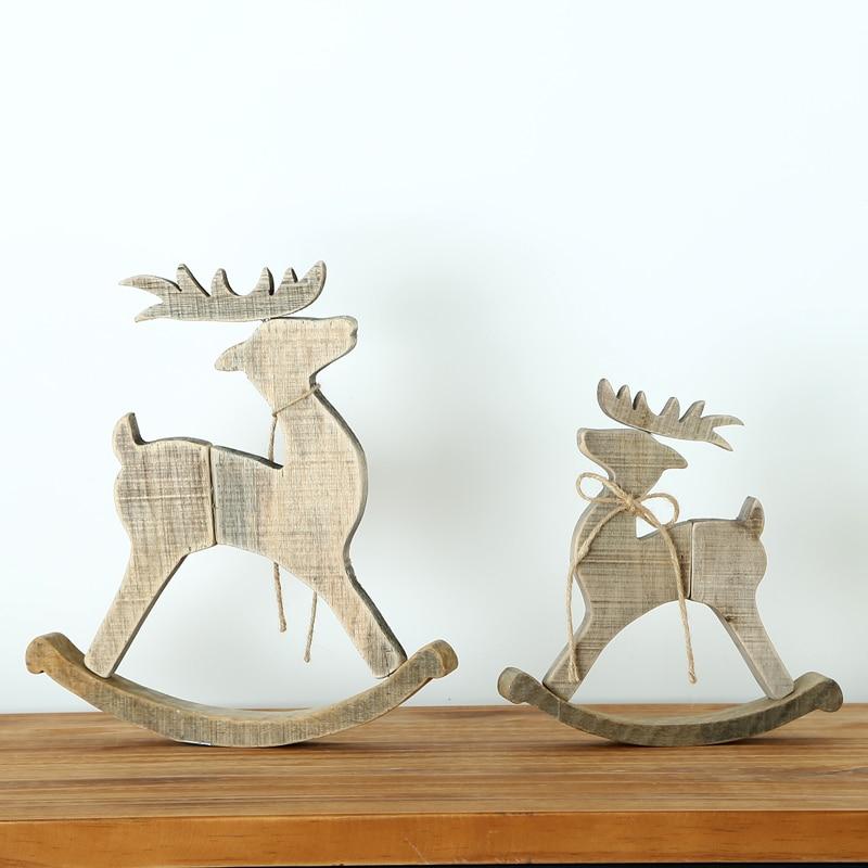 f5f151749c5 Originales hechos a mano de madera adornos navidad decoración para el hogar  sorteos regalos del partido en de en AliExpress.com