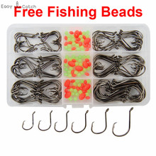 150pcs 7384 High Carbon Steel Fishing Hooks Saltwater Fishing Offset Sport Circle Bait font b Fishhooks