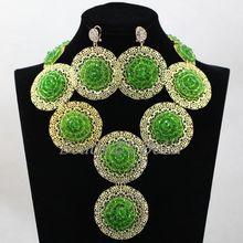 Trendy Green Crystal Nigerian Wedding Jewellry Set