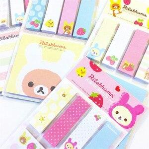 Image 4 - Rilakkuma Bloc de notas de dibujos animados, 20 unidades por lote, Bloc de notas adhesivas, papel extraíble, venta al por mayor