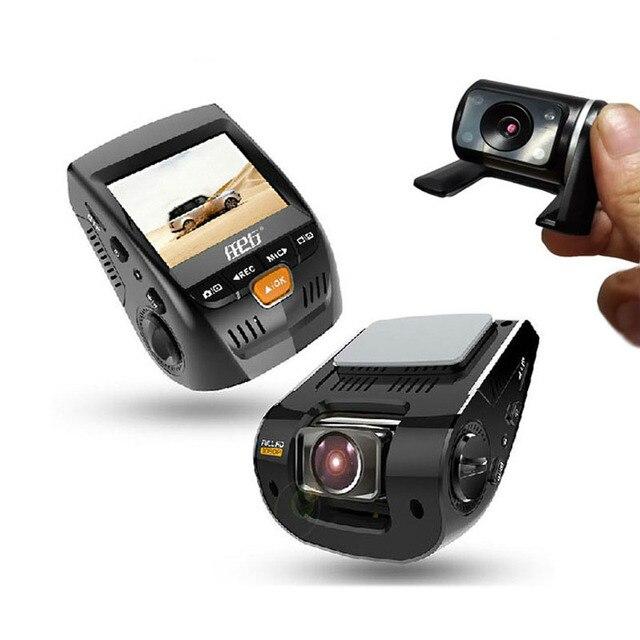 """2016! 1080P HD dual-lens night vision 2.4"""" Car Camera Night Vision Car DVR Vehicle Driving Camcorder Recorder parking monitor"""