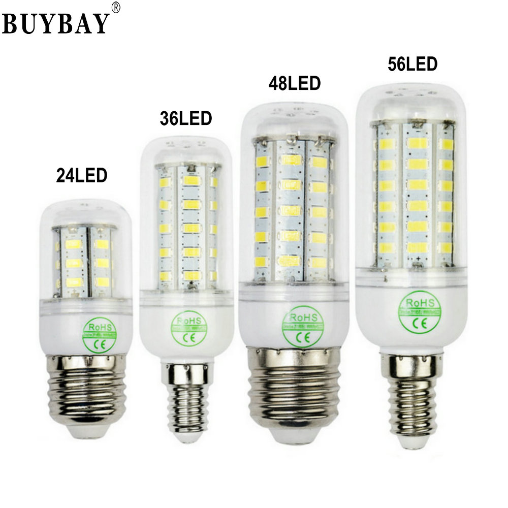 Ultra bright SMD5730 e27 led corn bulb 24 36 48 56leds 220V lampadine led light chandelier lamp GU10 G9 E14 Bombillas lampada lole капри lsw1349 lively capris xs blue corn