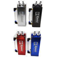 Universal D1 SPEC Engine Square Shape Oil Catch Can Oil Tank Reservoir With 2 Bigger Fittings Oil Catcher