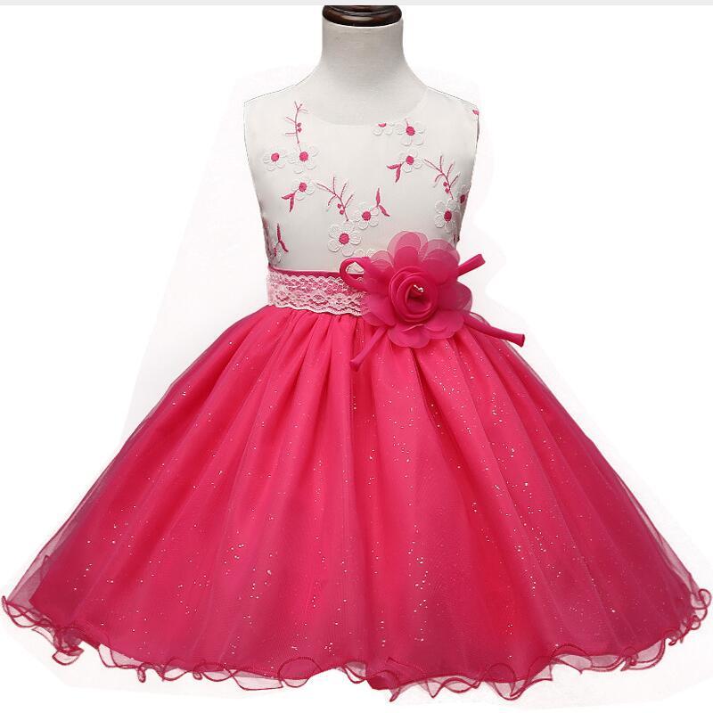 Evening Gown Wedding: Girl Flower Wedding Party Dress Evening Prom Gown Little