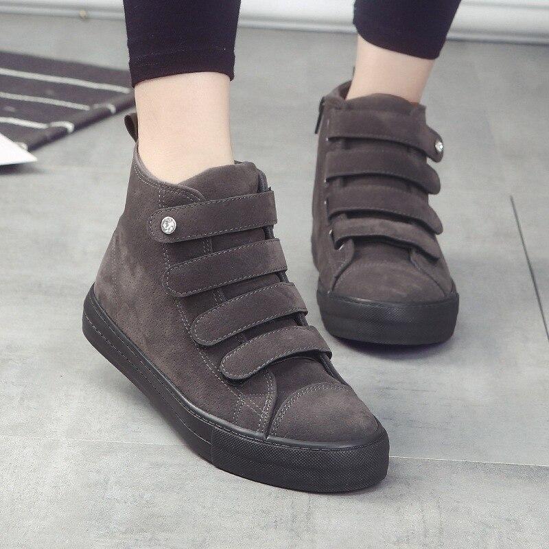 Pour Sur Plat jaune Femmes Sneakers Casual ardoisé Dérapant Noir Dames Toile Hiver L'automne Chaussures Nouveau Femme HgvnqI