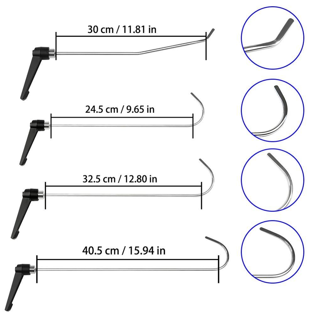 4 pc Recém Projetar Varas Conjunto de Ferramentas PDR PDR Ferramenta Gancho Push Rod melhor PDR gancho Paintless Reparação Dent