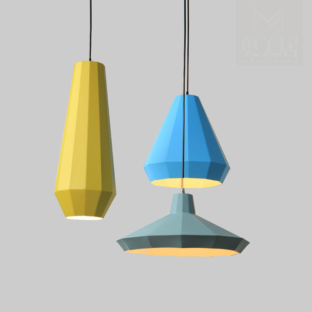 Nordic Moderne Minimalistische Mode Kreative Geometrische Eisen Führte E27  Pendelleuchte Für Esszimmer Wohnzimmer Restaurant ...