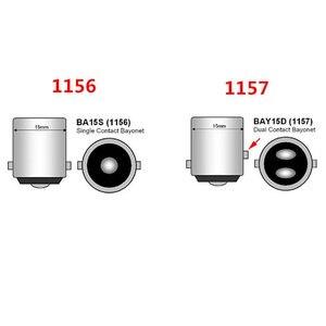 Image 5 - סופר לבן COB P21W 1157 BAY15D Led 12 SMD 1156 BA15S 12V DC קרוואן משאית רכב נורות סטיילינג אור חניה אוטומטי מנורה