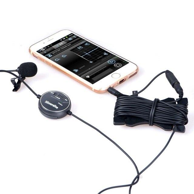 Commlite CoMica CVM-V03CP дб Регулировки Петличный Микрофон Клип на Всенаправленный Конденсаторный Микрофон для Видеокамер Камеры Смартфон