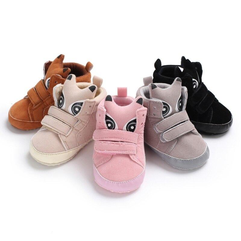 Милые животные печати Обувь для девочек Обувь для мальчиков Обувь для малышей Зимние теплые детские Новинка Высокие Повседневное тапки дет...