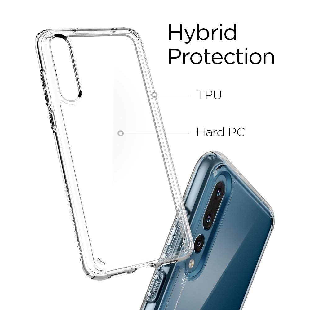 new concept 6eaac fa091 US $19.99 |100% Original Spigen Huawei P20 Pro Case Ultra Hybrid Crystal  Clear L23CS23989-in Fitted Cases from Cellphones & Telecommunications on ...