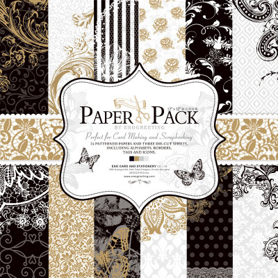 27 sheets/pack, 12 inch 고급스러운 흑백 cardstock 만들기 diy scrapbooking 배경 종이 팩 세트, 종이 접기, 종이 공예