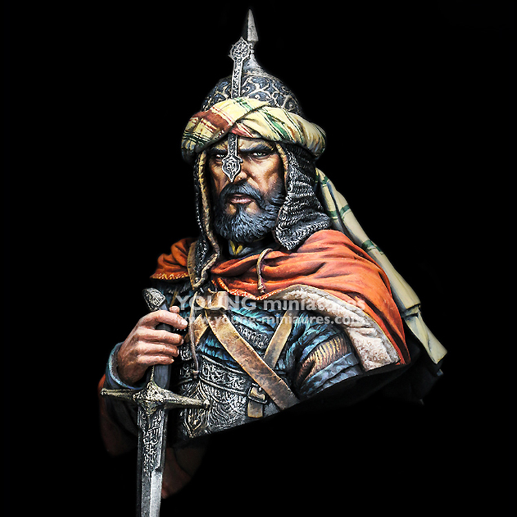 1/10 Bust resin model kit ARABIAN KNIGHT ancient historical figures Unpainted Unassembled Free shipping X158 1 10 bust resin model kit young soldier 1944 figures model unpainted and unassembled free shipping 92dd