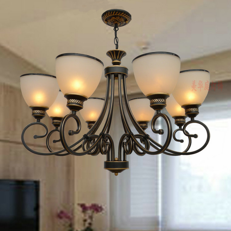 Multiple Chandelier sale chandeliers dining room bedroom lamp villa simple lighting D8-056 iron stores ZX20 multiple chandelier dining room bedroom lamp iron simple modern retro american pastoral lighting zx42