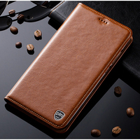 For Microsoft Nokia Lumia 535 Case High Quality Luxury Genuine Leather Flip Stand Cover Mobile Phone