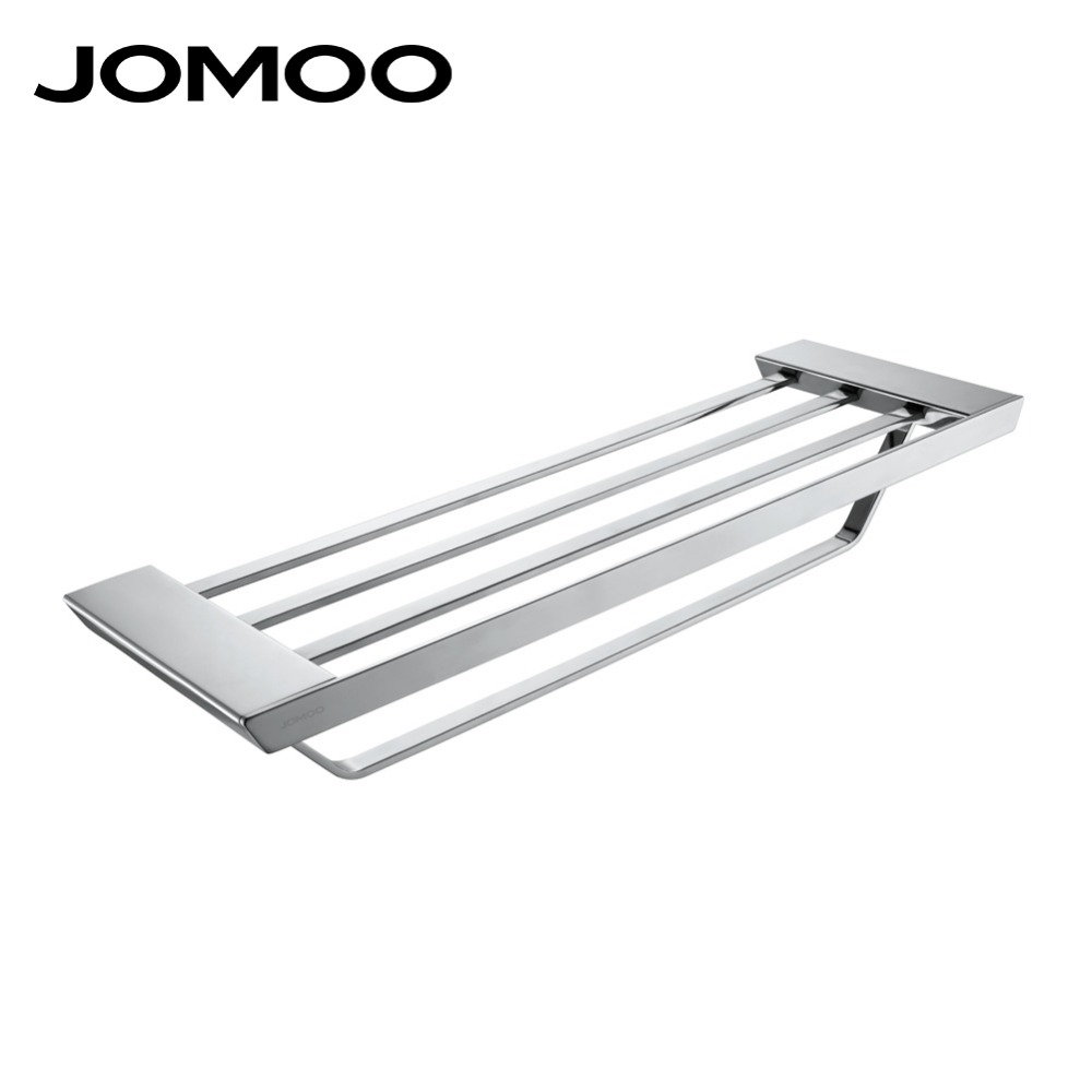 JOMOO High Quality Brass Alloy Towel Bar Set Rack Tower Holder Hanger Bathroom Wall Mounted Hotel Shelf Chrome Finish design free shipping high quality bathroom toilet paper holder wall mounted polished chrome