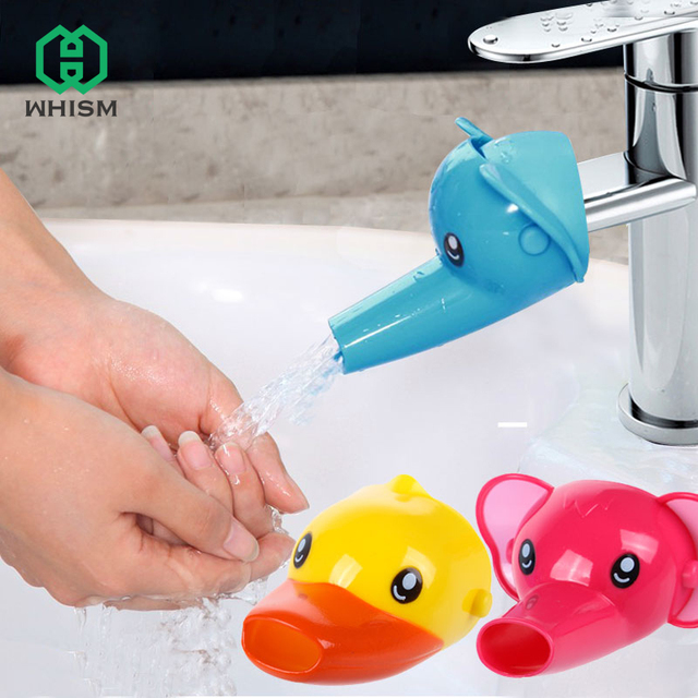 WHISM Silicone Cute Animal Sink Tap Toddler Extender Wash For Kids Children  Hand Washing Bathroom Kitchen