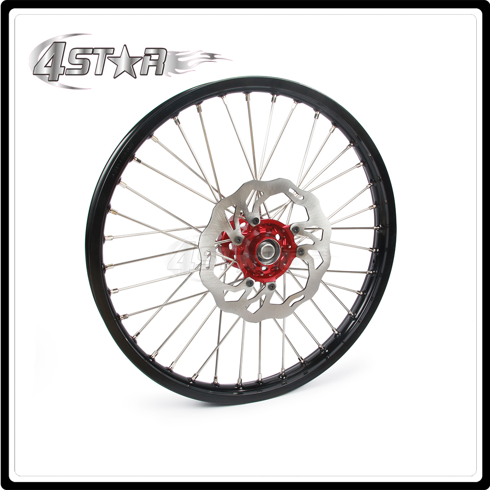 Motorcycle Wheel Rim Hubs 1.6*21 With Front Brake disc For Honda CR125 CR250 CRF250R CRF450R CRF450X CRF250X mountain bike four perlin disc hubs 32 holes high quality lightweight flexible rotation bicycle hubs bzh002