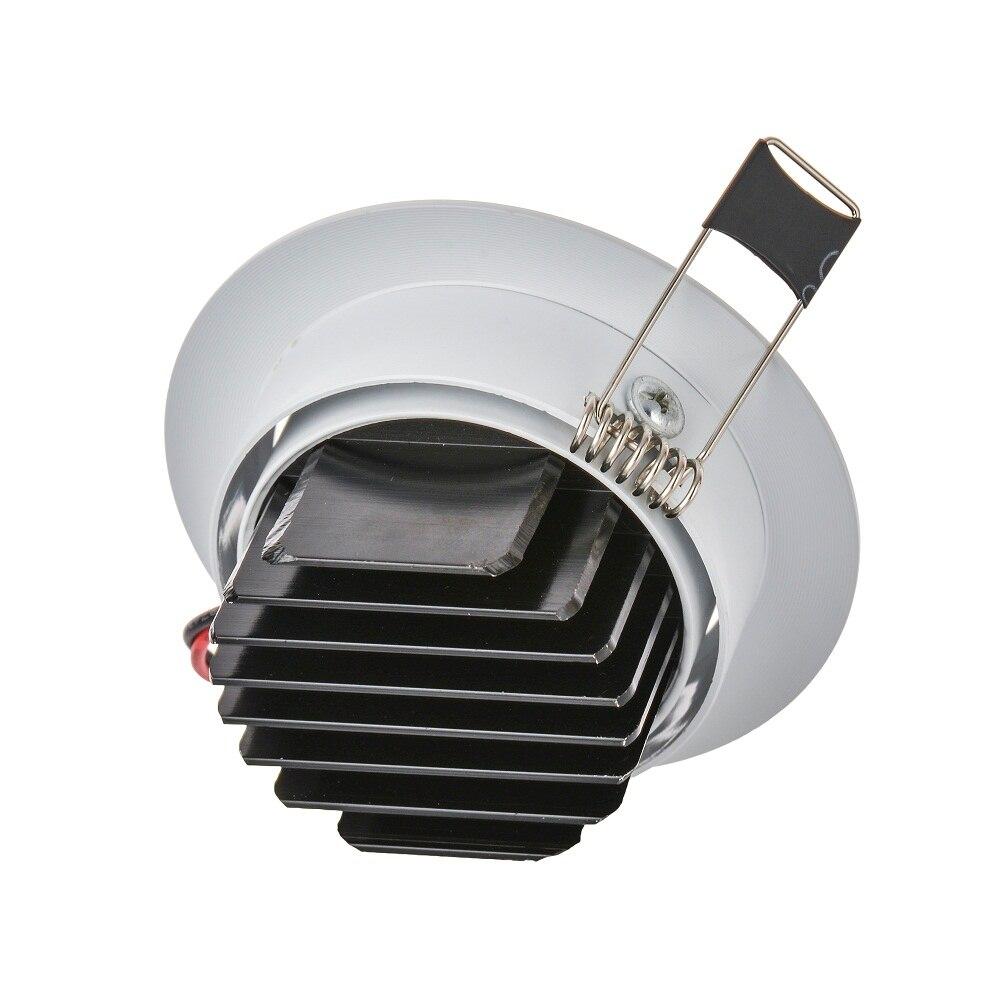 Lámpara de punto LED de mazorca redonda de gran calidad 6 W ángulo ajustable empotrado de techo 110 V 230 V para iluminación de hogar/Oficina - 5