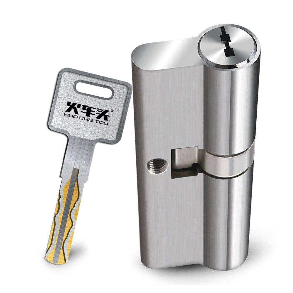 Serrure de porte de cylindre d'euro d'acier inoxydable Anti sécurité de bosse de choix