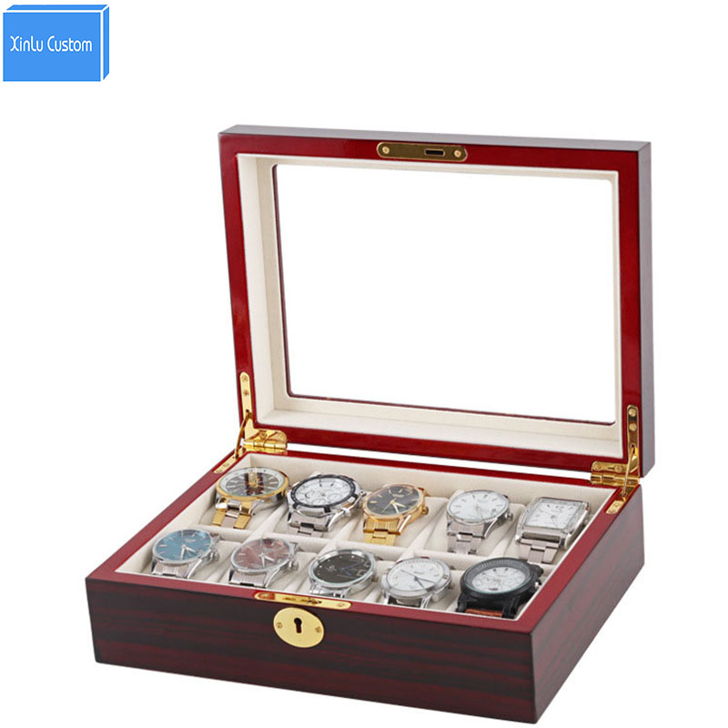 Luxury 10 Grids Home Household Collect Box for Storage Jewelry/Accessories/Watch Storage&Display Box Watch Case for Brand Watch 25pcs empty metal bobbins spool case with 25 grid storage case box for sewing machine reels home accessories
