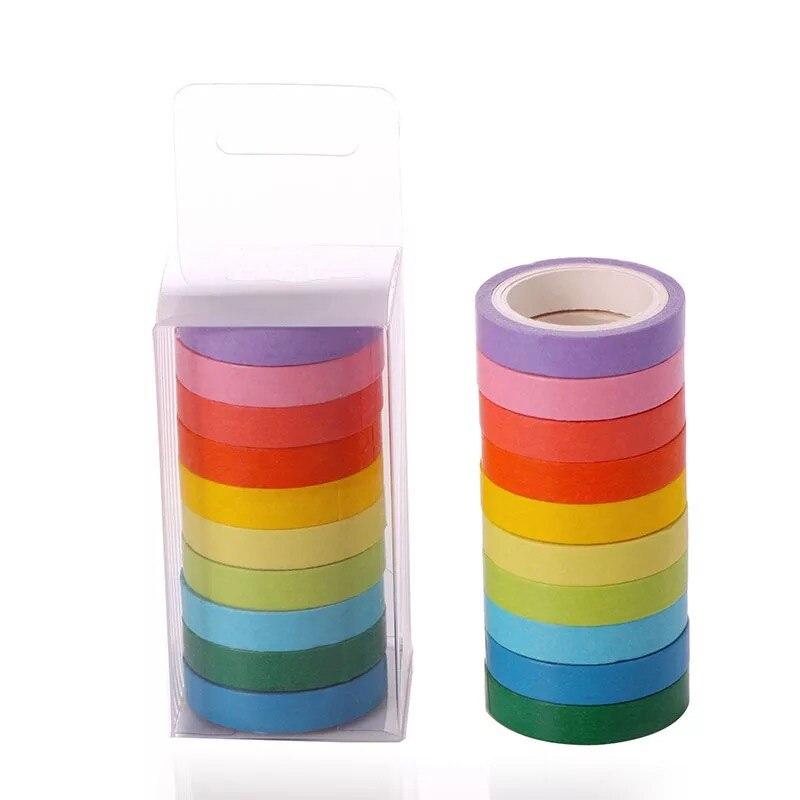 LiebenswüRdig Bunte Diy Koffer Candy Reine Farbe Nette Reißen Und Papier Regenbogen Band