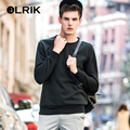 OLRIK 2016 Brand New Autumn Men Hoodies Casual Solid Sweatshirt O-neck Mens Hoodies Slim Tracksuit fitness male