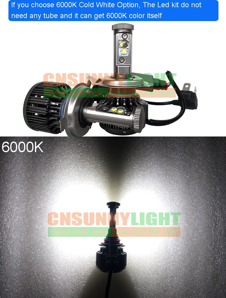 New H4 CREE LED Motorcycle Headlight Bulb 4000LM 40W HiLo 20W Low Beam Conversion Kit 3000K 4300K 6000K DC 12V P43T Headlamp (21)