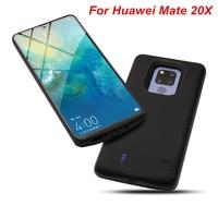 Cep telefonları ve Telekomünikasyon Ürünleri'ten Pil Şarj Kılıfları'de Huawei Mate 20X Pil Kutusu 6000 Mah harici pil şarj cihazı Kılıfı Kapak Güç Bankası Huawei Mate 20X Pil Kutusu