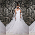 Мода сексуальная русалка свадебные платья без бретелек невесты рукавов суд поезд Vestido де Noiva свадебное платье w6023