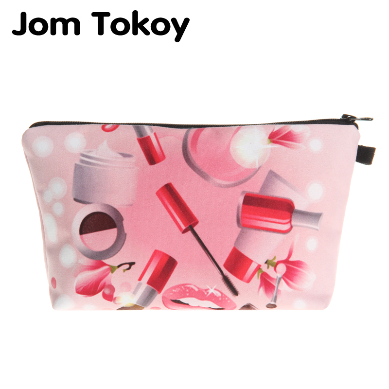 3D Printing Red lipsticks makeup bag Jom Tokoy cosmetic organizer bag 2018 New Fashion Women Brand Cosmetic Bag unicorn 3d printing fashion makeup bag maleta de maquiagem cosmetic bag necessaire bags organizer party neceser maquillaje