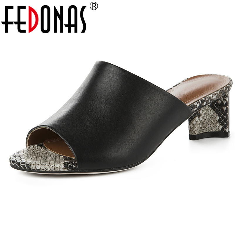 FEDONAS Fashion Sexy Women Pumps High Quality Genuine Leather Sandals Snakeskin Pattern Decoration Summer Prom Party Shoes WomanFEDONAS Fashion Sexy Women Pumps High Quality Genuine Leather Sandals Snakeskin Pattern Decoration Summer Prom Party Shoes Woman