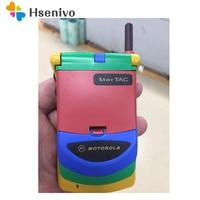Hot sale Old Fashion Original Unlocked Motorola StarTAC Rainbow Flip GSM Mobile Phone With Multi language Free shipping