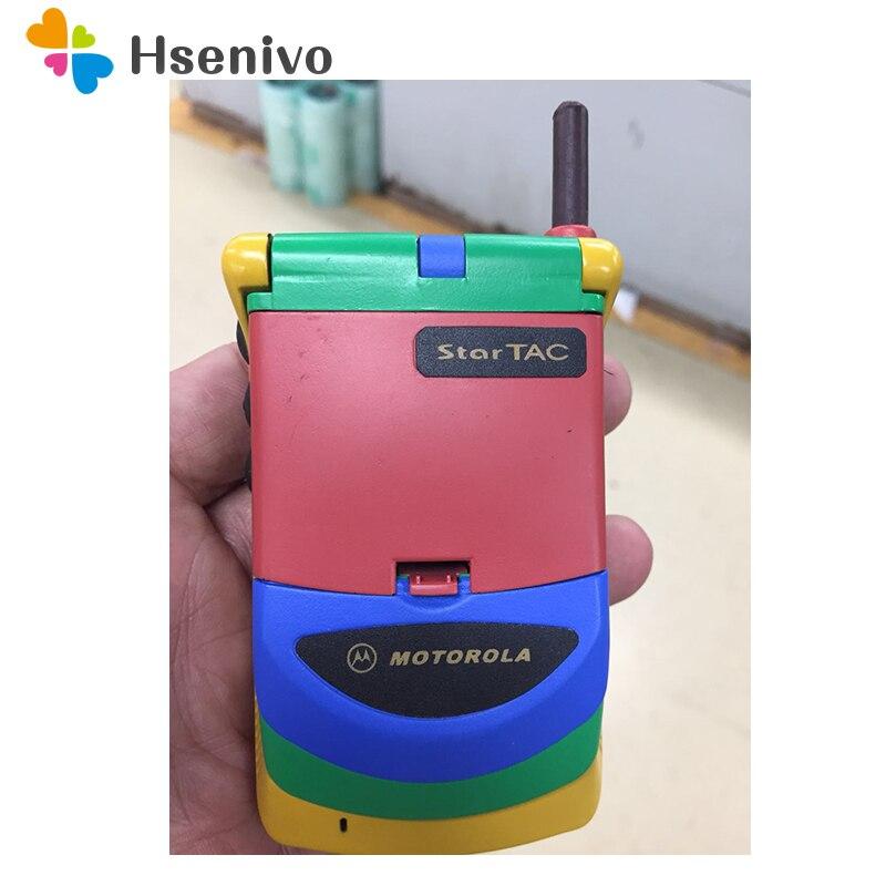 Offre spéciale ancien téléphone portable Original débloqué Motorola StarTAC arc-en-ciel Flip GSM avec multi-langue livraison gratuite