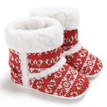 Baby Boots 2017 Fashion Baby Toddler Infant Girl Snow Boots Soft Sole prewalker Crib Shoes D50
