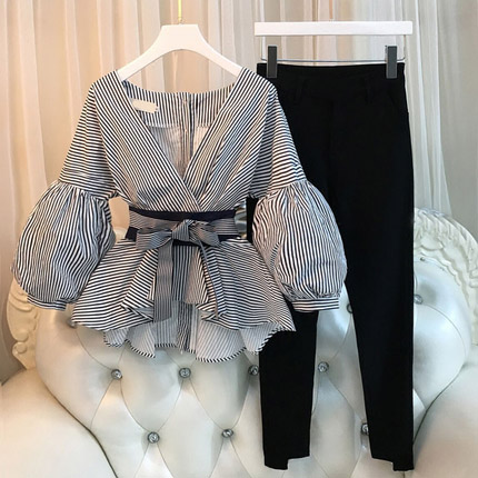 bc876ef64ac3d 2018 spring new large size women fat sister Western style suit woman  favorite possession piece of meat-in Women's Sets from Women's Clothing on  ...