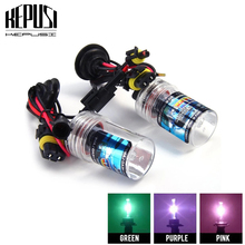 2pcs HID Xenon H8 H9 H11 Car Headlight Bulb 35W 4300K 6000K 8000K Purple Pink Green Deep Blue Auto Lamp AC 12V Fog