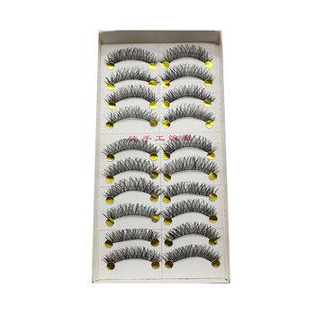 100 Pairs Natural False Eyelashes New Fake Eyelashes Cross False Eye Lashes Make Up Eyelash Extensions Makeup Cilios Posticos