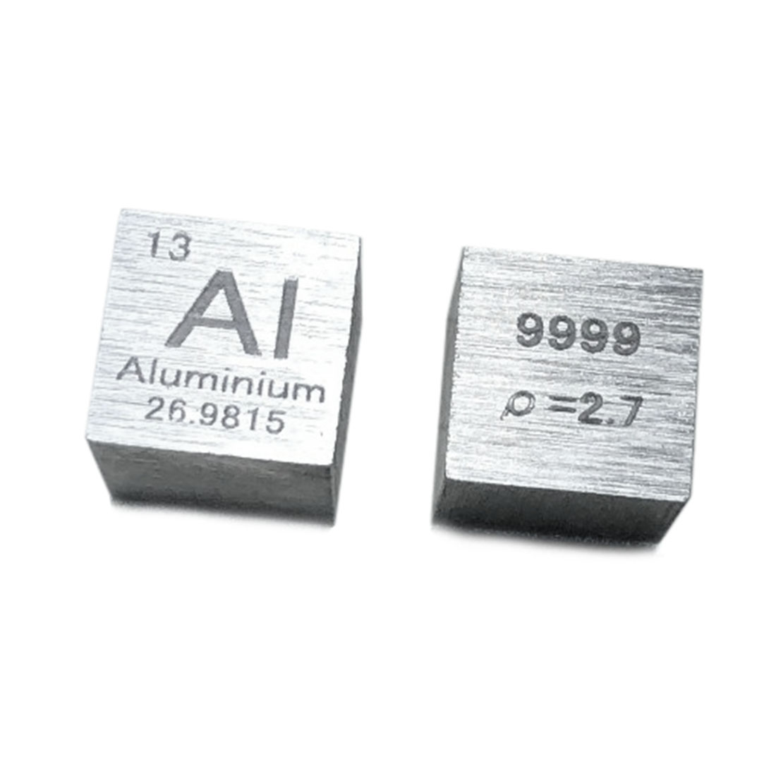 10 X 10 X 10mm Wiredrawing High Purity 4N Aluminum Cube Periodic Table Of Elements Cube For Research Study Education (Al≥99.9%)