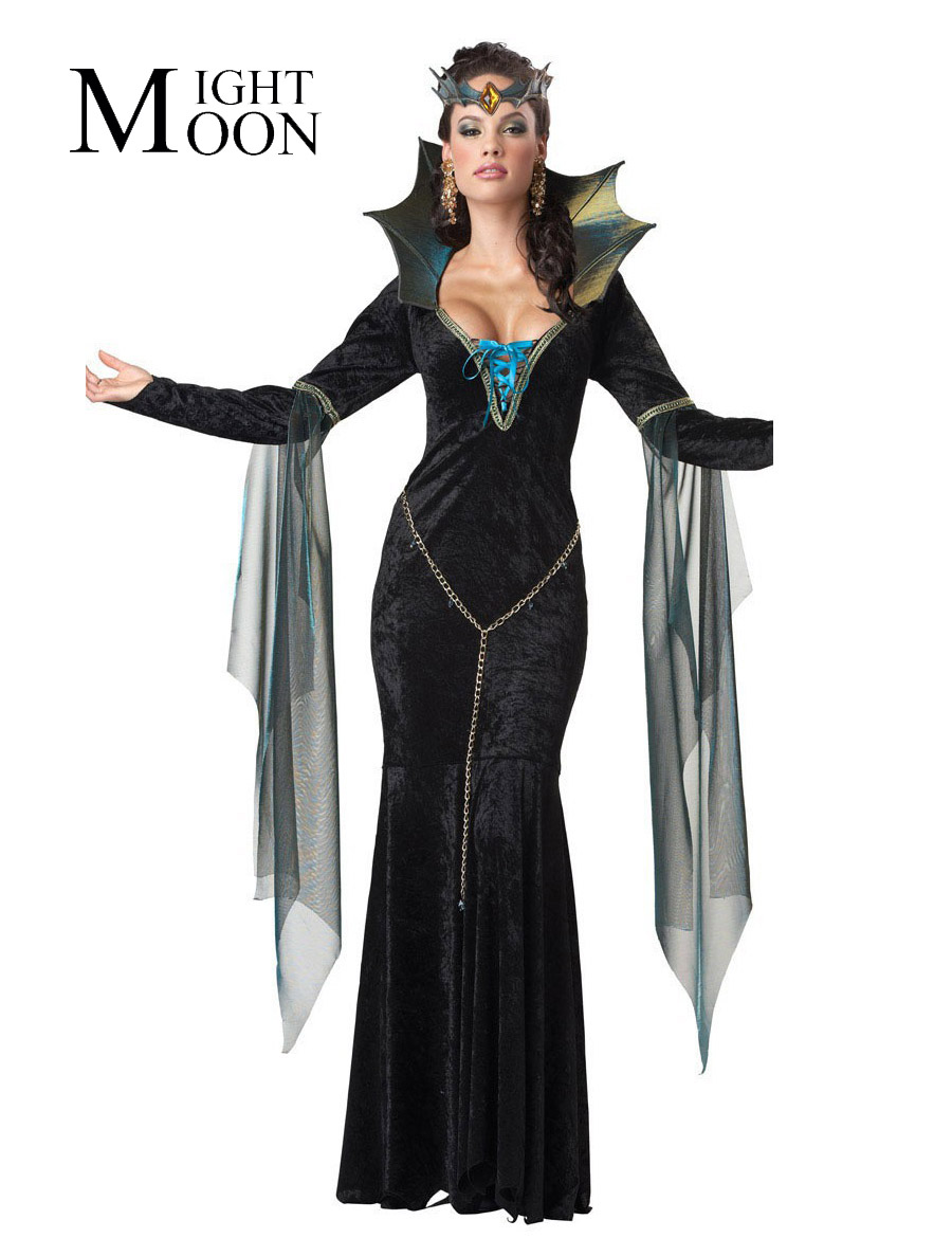 moonight witch halloween costumes sexy for women witch gown cheaper price cosplay witch for girls drop shipping