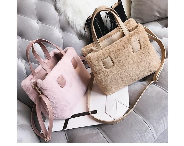 170483216e Winter Women Faux Fur PU Leather Shoulder Bags Top-Handle Bag Female  Fashion Hairy Designer Handbag Flap Bag Plush Crossbody Bag. 1 2 3 4 5 6 7  8 9 10 11 ...